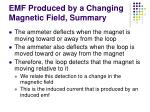 emf produced by a changing magnetic field summary