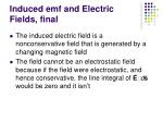 induced emf and electric fields final