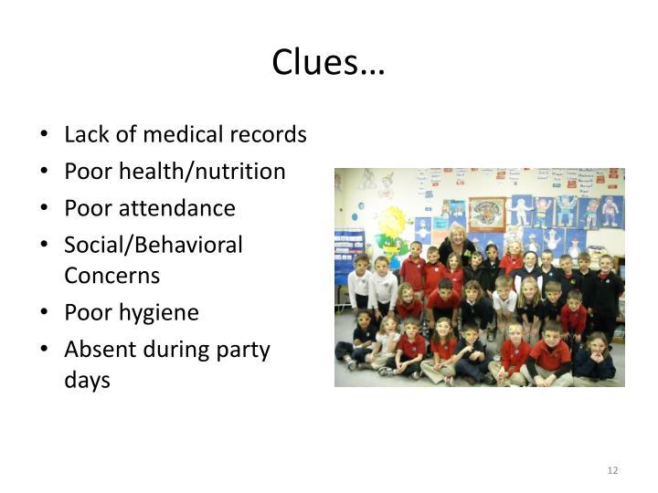Clues…