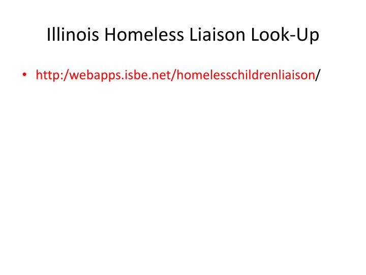 Illinois Homeless Liaison Look-Up