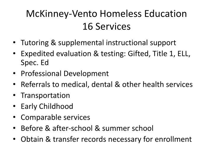 McKinney-Vento Homeless Education