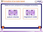 formation of an ionic bond1