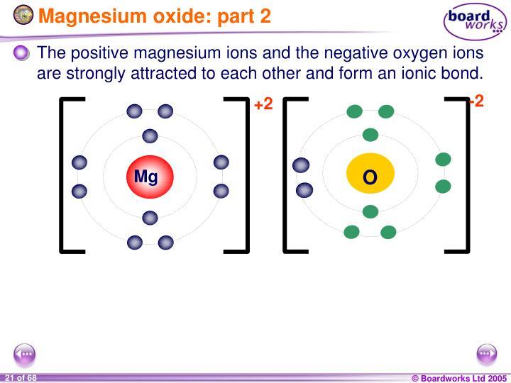 Magnesium oxide: part 2