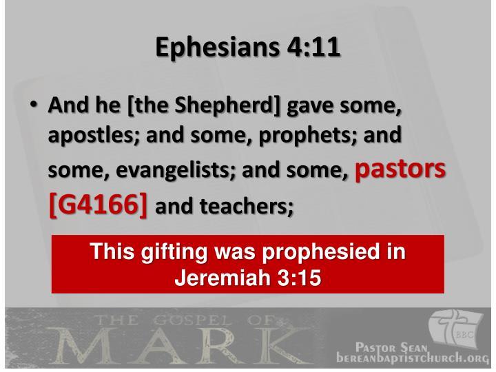 Ephesians 4:11
