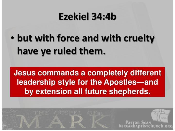 Ezekiel 34:4b
