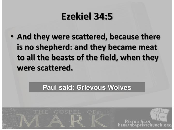 Ezekiel 34:5