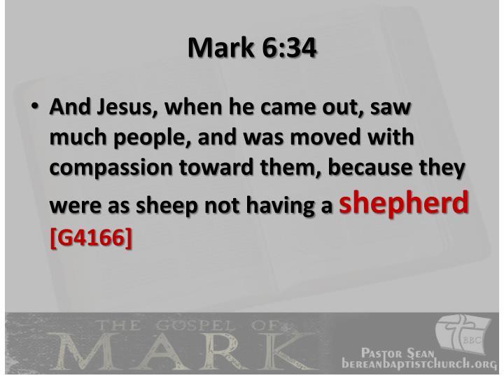 Mark 6:34