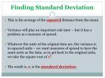 finding standard deviation