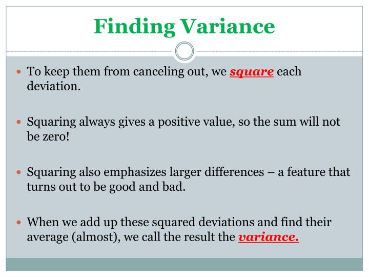 Finding Variance