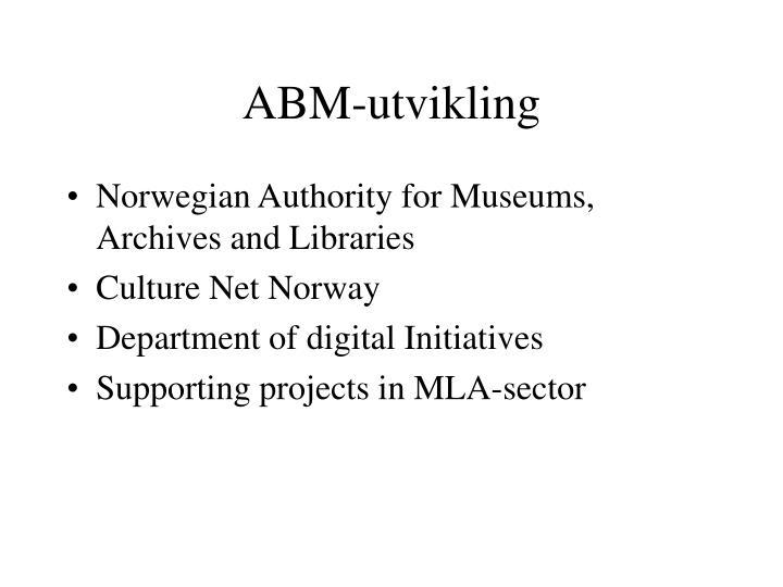 ABM-utvikling