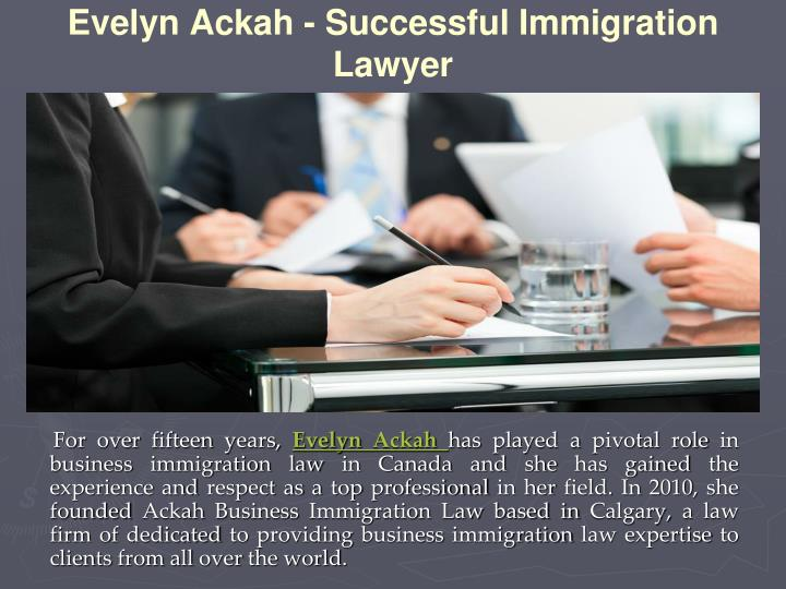 Evelyn ackah successful immigration lawyer