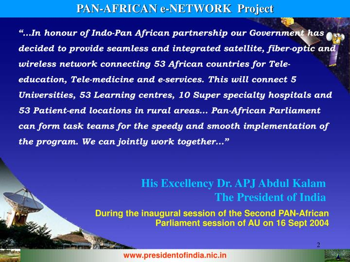 PAN-AFRICAN e-NETWORK  Project