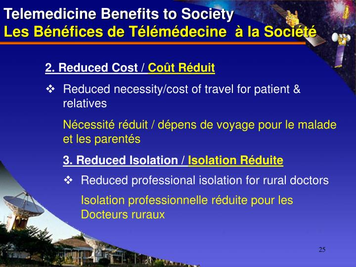 Telemedicine Benefits to Society