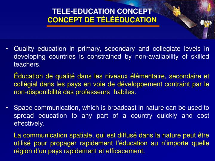 TELE-EDUCATION CONCEPT