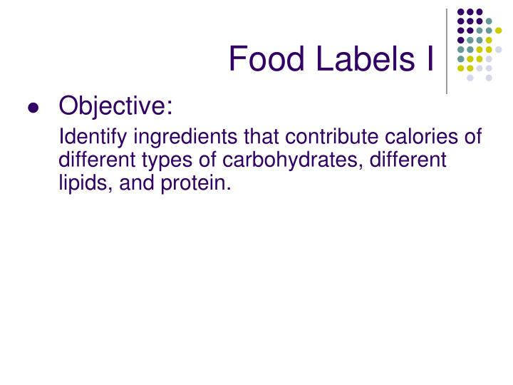Food Labels I