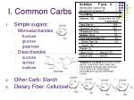 i common carbs