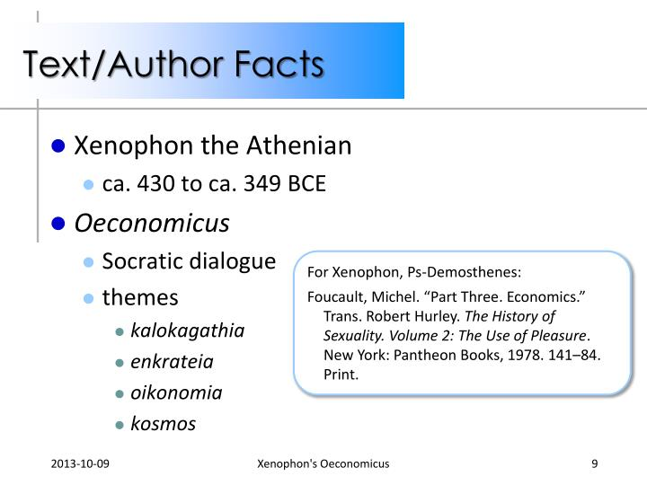 Text/Author Facts