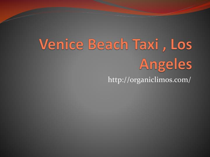 Venice beach taxi los angeles
