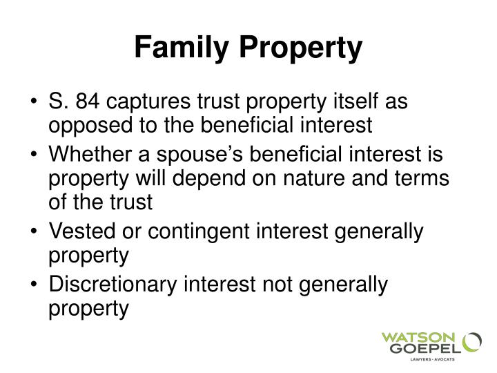 Family property1