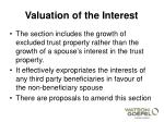 valuation of the interest2