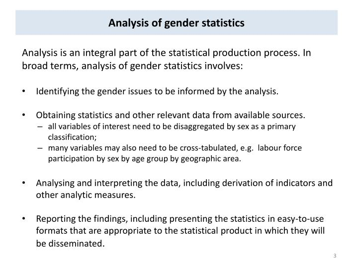 Analysis of gender statistics