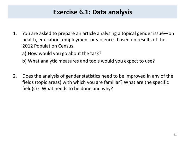 Exercise 6.1: Data analysis