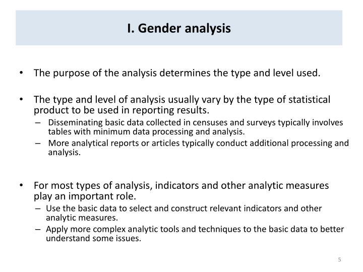 I. Gender