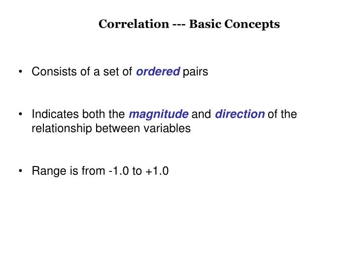 Correlation --- Basic Concepts