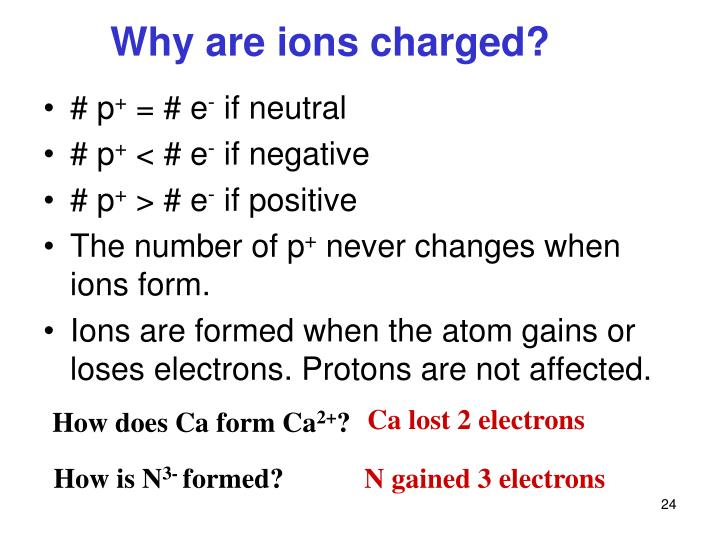 Why are ions charged?