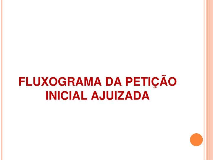 FLUXOGRAMA DA PETIÇÃO INICIAL AJUIZADA