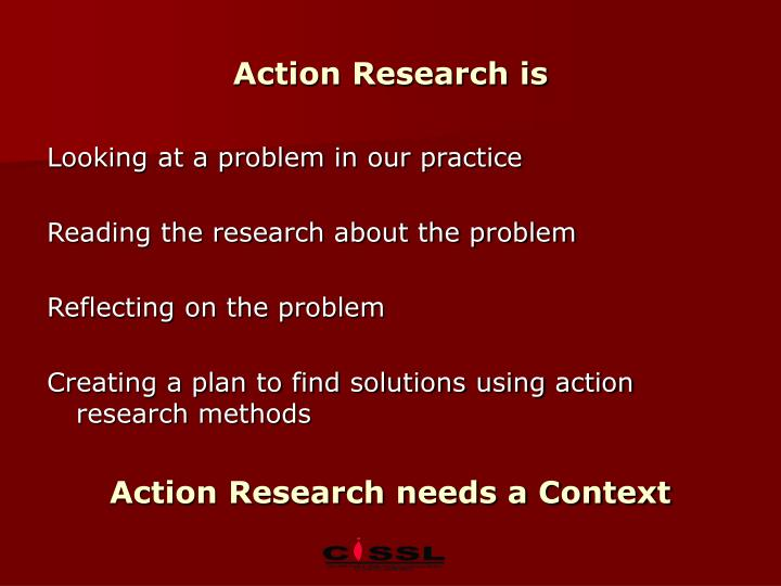 Action Research is
