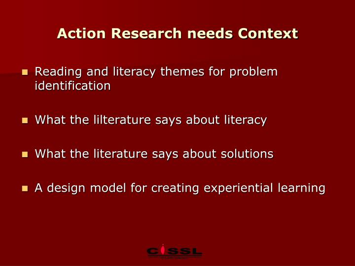 Action Research needs Context