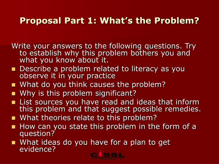 Proposal Part 1: What's the Problem?