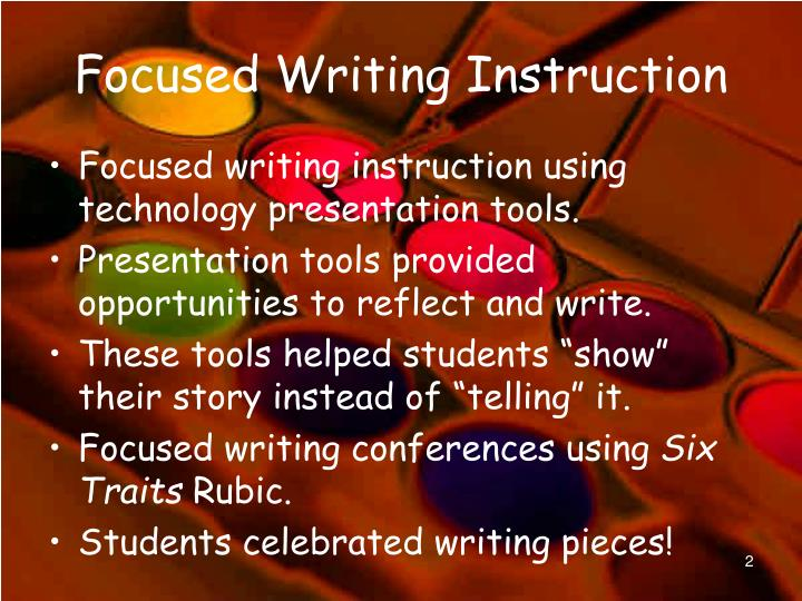 Focused writing instruction