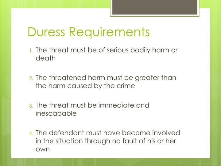 duress plaintiff and contract