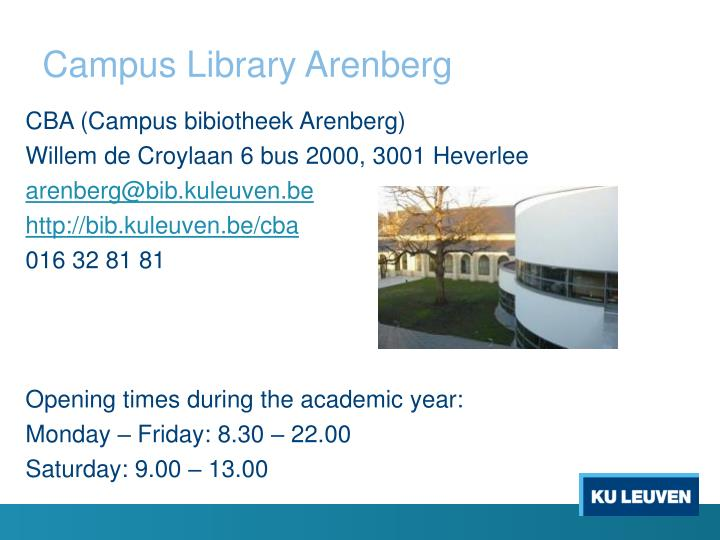 Campus Library Arenberg