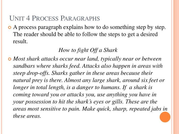Unit 4 Process Paragraphs