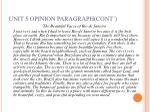 unit 5 opinion paragraph cont14