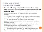 unit 6 narrative paragraphs cont11
