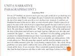 unit 6 narrative paragraphs cont6