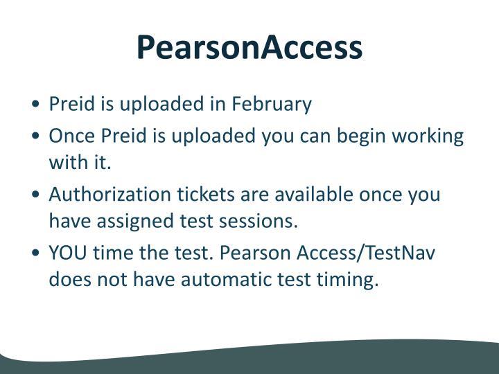 PearsonAccess