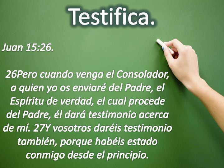 Testifica.