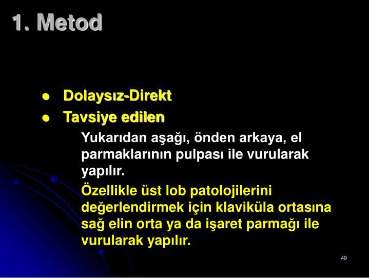 1. Metod