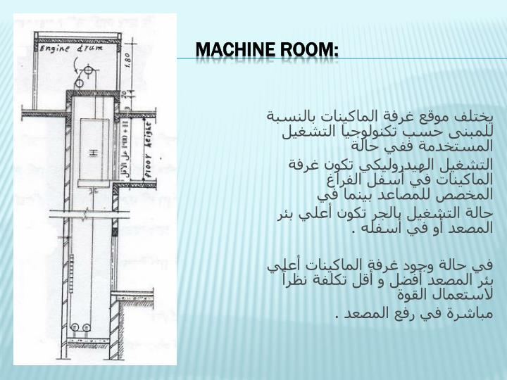 Machine Room:
