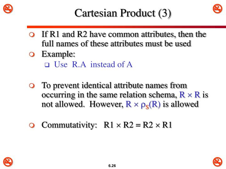Cartesian Product (3)