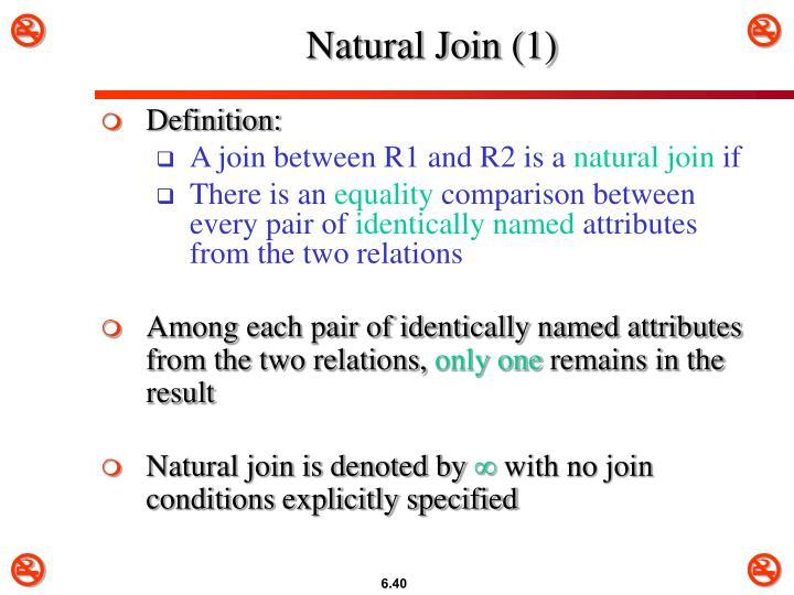 Natural Join (1)