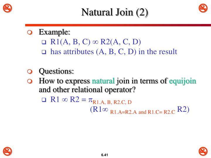 Natural Join (2)