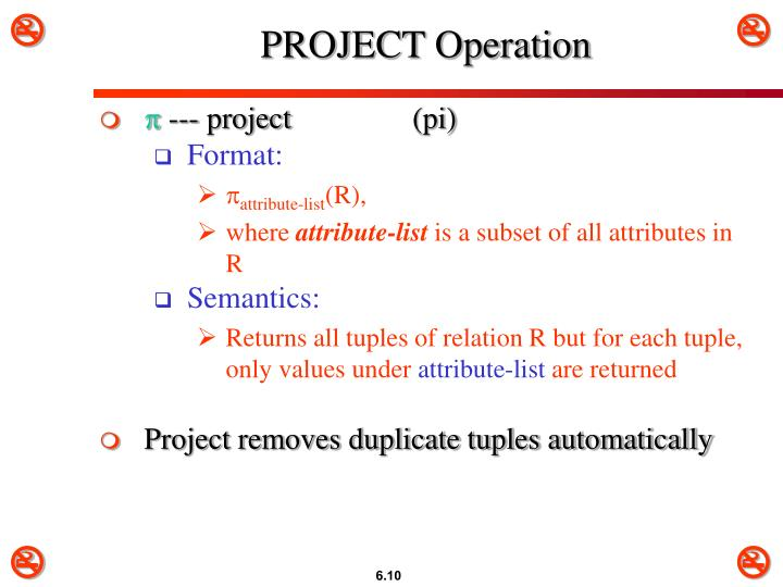 PROJECT Operation