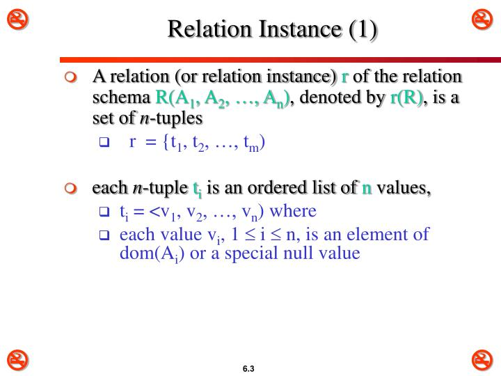 Relation Instance (1)