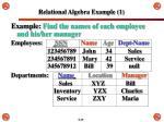 relational algebra example 1